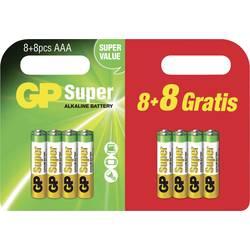 GP Batteries Super 8 + 8 gratis mignon (aa)-baterija alkalno-manganov 1.5 V 16 kos
