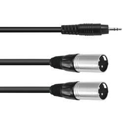 Omnitronic 30225157 XLR adapter cable [1x 3,5 mm banana moški konektor - 2x XLR vtič 3-polni] 3.00 m črna