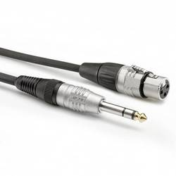 Hicon HBP-XF6S-0030 avdio adapter cable [1x klinken vtič 6.3 mm (stereo) - 1x XLR vtičnica 3-polna] 0.30 m črna