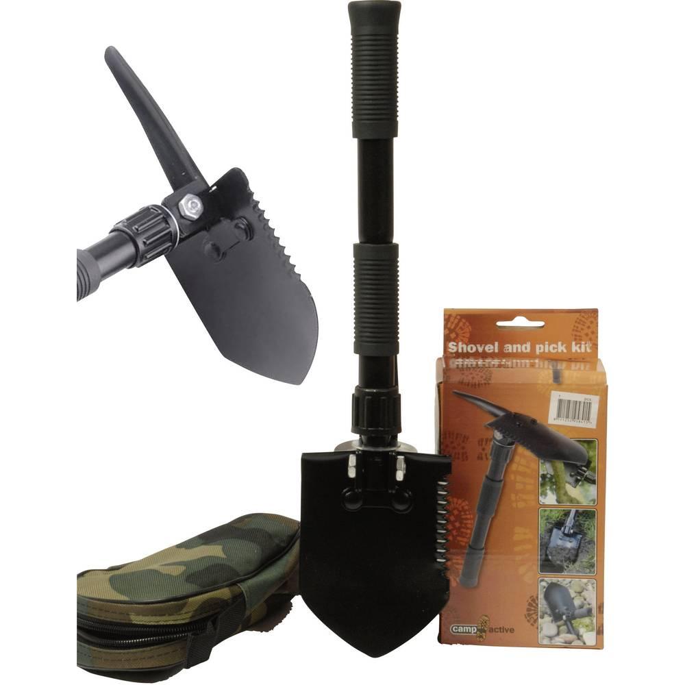 Zložljiva lopata Z grabljico, Z robom za žaganje, S torbico 95841 Folding shovel
