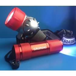 LED Lommelygte, Pandelampe Håndstrop Grundig