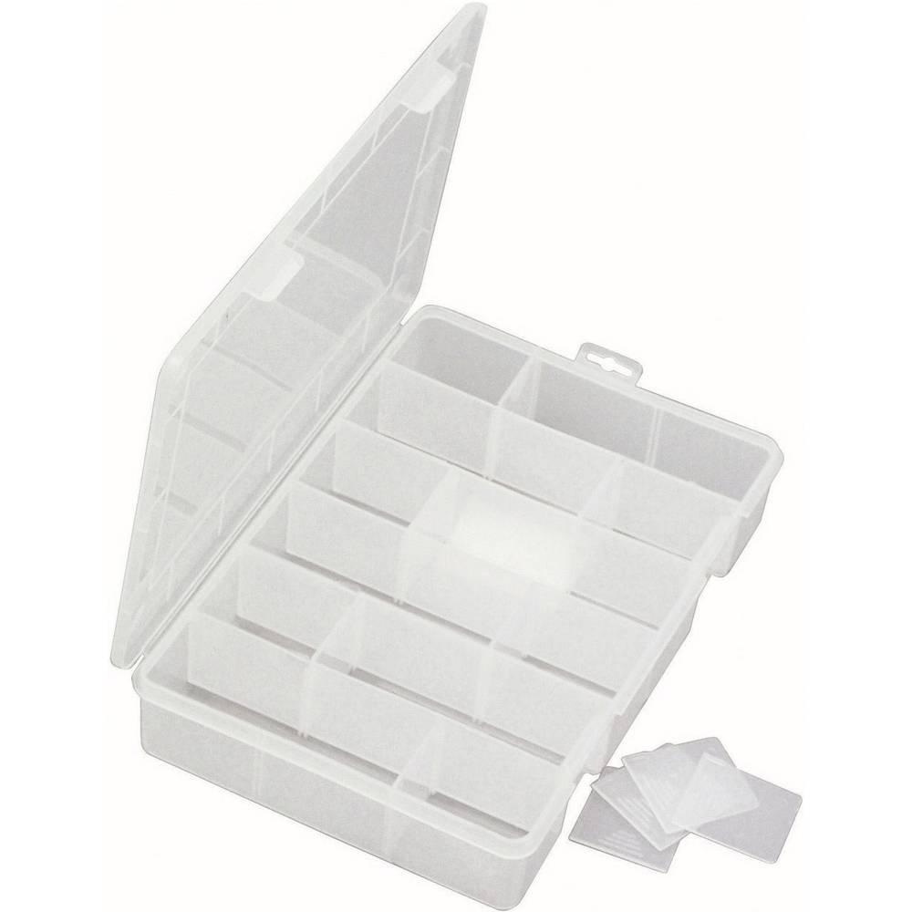 Sortirna škatla (D x Š x V) 280 x 200 x 50 mm VISO št. predalov: 18 nastavljivo pregrajevanje