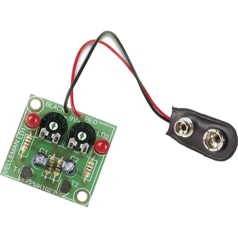 Komplet za utripajoče luči Velleman MK102 Model: Komplet za sestavljanje 9 V/DC
