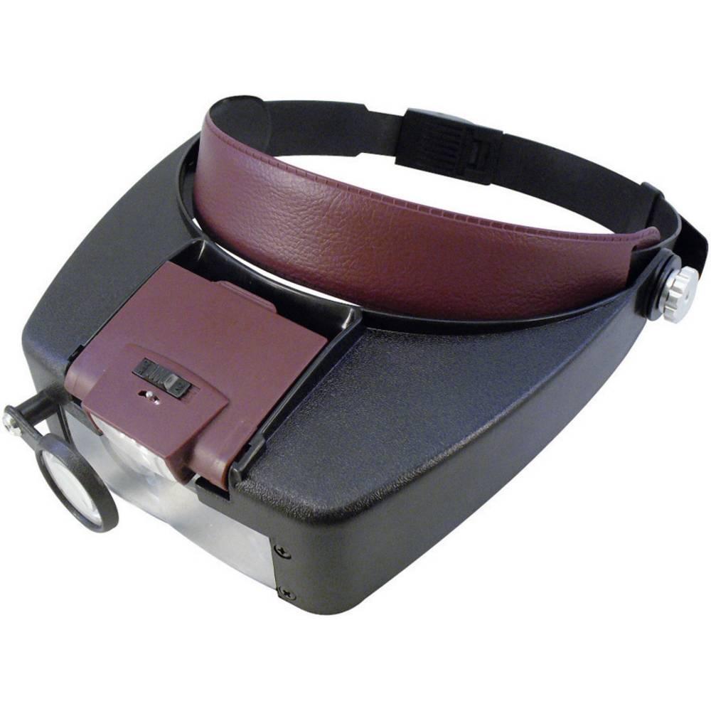 Velleman VTMG13 VTMG13 naglavna lupa Faktor povečave: 1.5 x, 3 x, 8.5 x, 10 x Velikost leče: (Ø) 29 mm