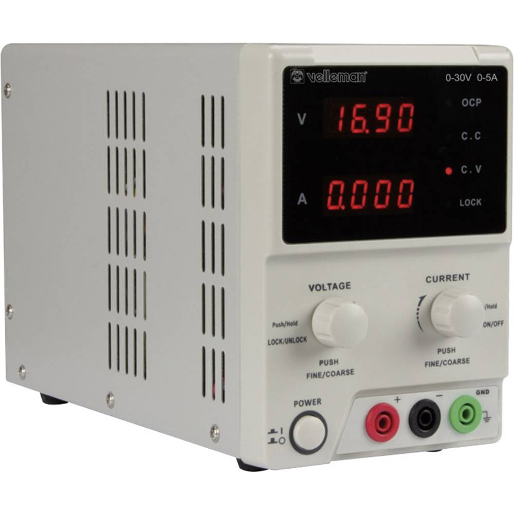 laboratorijski napajalniki, nastavljivi Velleman LABPS3005 0 - 30 V/DC 0 - 5 A 150 W