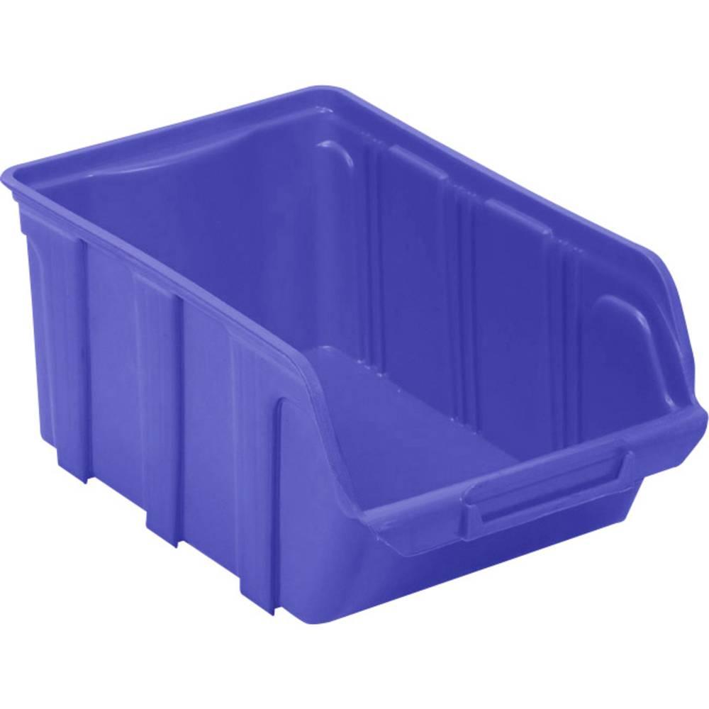 Kutija za slaganje (D x Š x V) 300 x 200 x 150 mm Plava boja VISO TEKNI4B TEKNI4B 1 ST