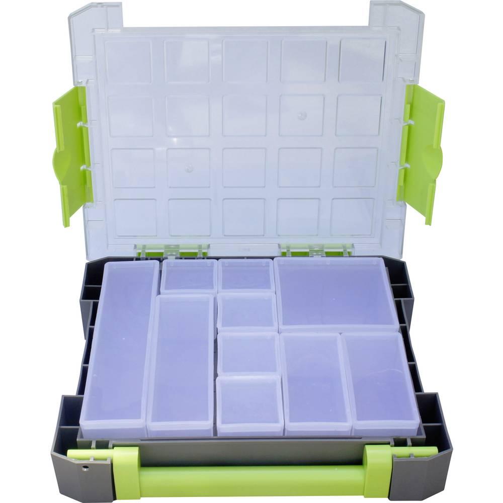 Sortirni kovček (D x Š x V) 275 x 70 x 325 mm VISO W185-10 št. predalov: 10 fiksna pregraditev