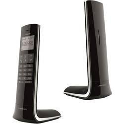 Logicom LUXIA 150 Noir/Gris Stacionarni brezžični telefon analogni Ultra tanek, Dizajnerski telefon, Prostoročno telefoniranje,