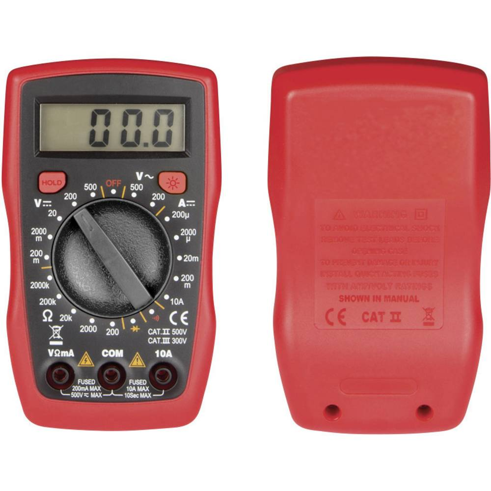 Velleman DVM841 Ročni multimeter Digitalni CAT II 500 V, CAT III 300 V