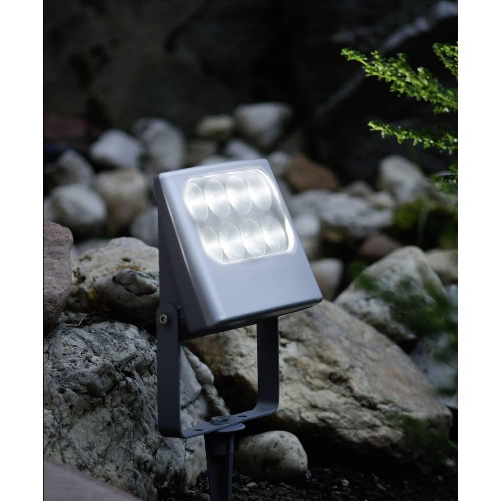 LED-zunanji reflektor 3 W nevtralno bela ECO-Light 6170 SP-SI srebrna