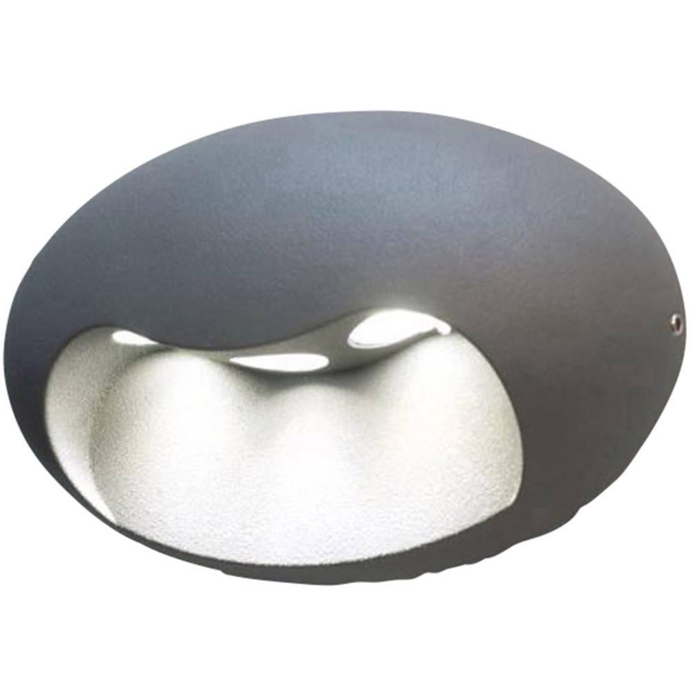 LED-Zunanja stenska svetilka 5 W nevtralno bela ECO-Light LED-Design svetilka Eyes 1860 SI srebrna
