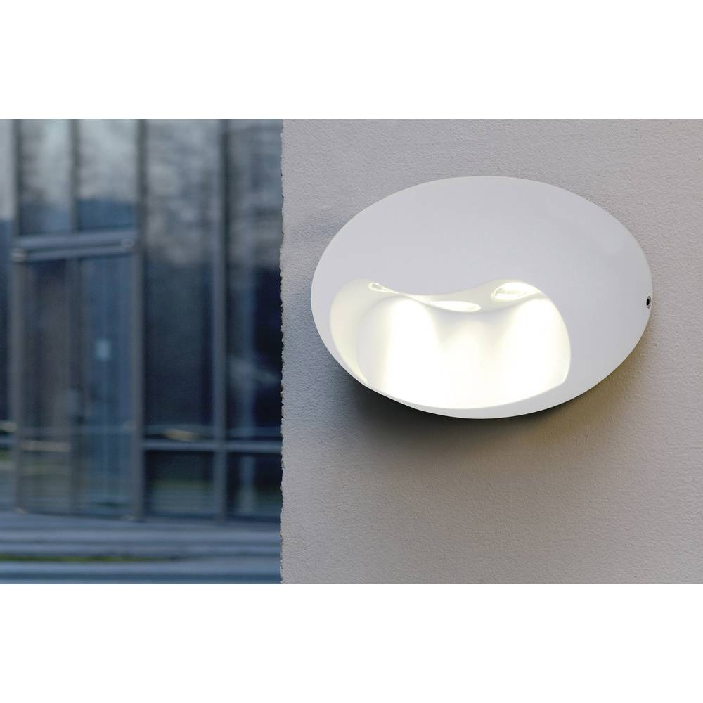 LED-Zunanja stenska svetilka 5 W nevtralno bela ECO-Light LED-Design svetilka Eyes 1860 WH bela
