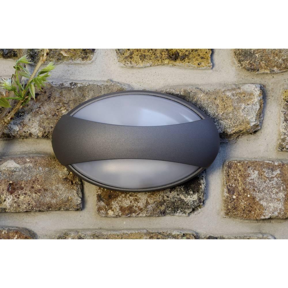 LED-Zunanja stenska svetilka 3 W nevtralno bela ECO-Light LED-Design svetilka Eyes 1861 GR antracitna