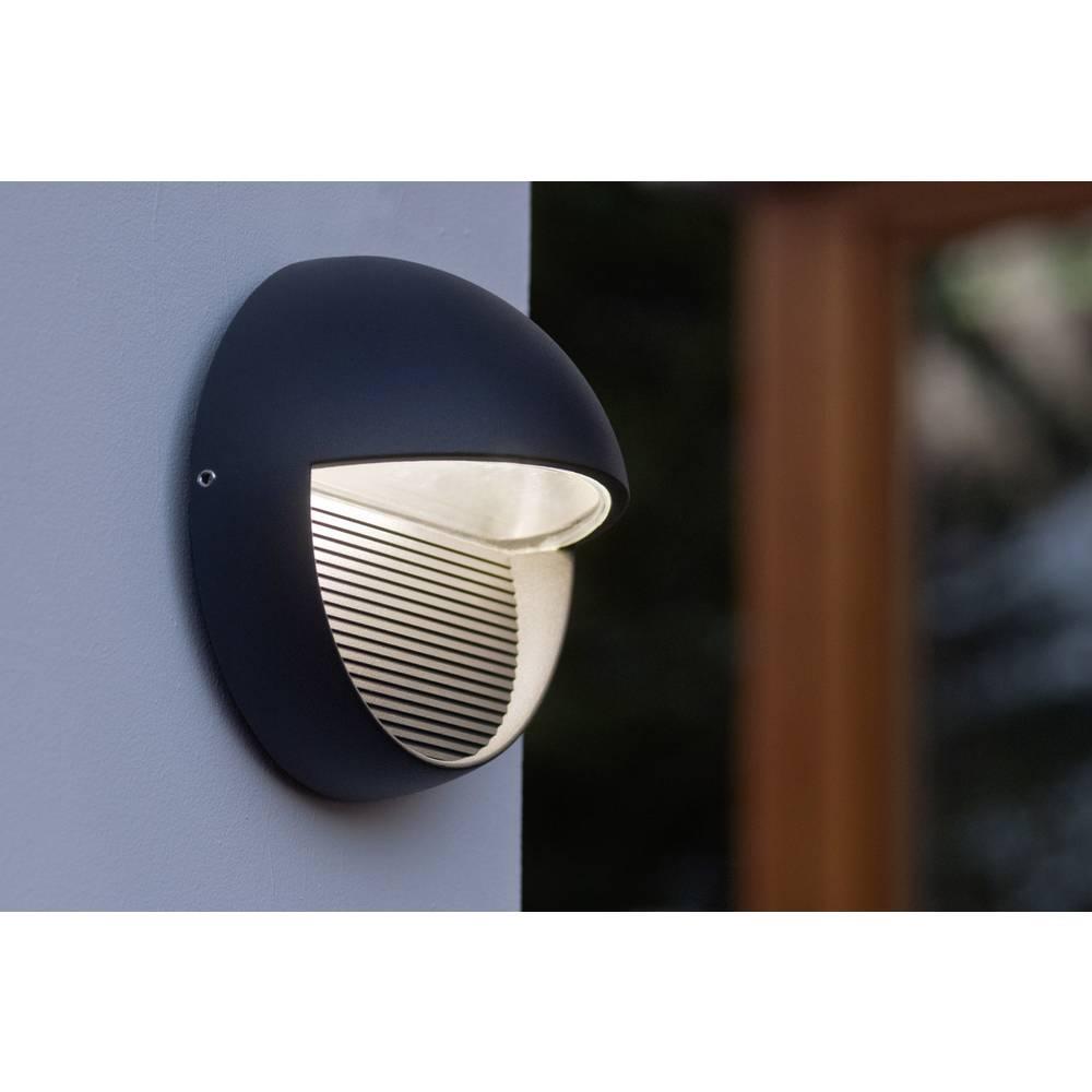 LED-Zunanja stenska svetilka 3 W nevtralno bela ECO-Light LED-Design svetilka Radius 1865 GR antracitna
