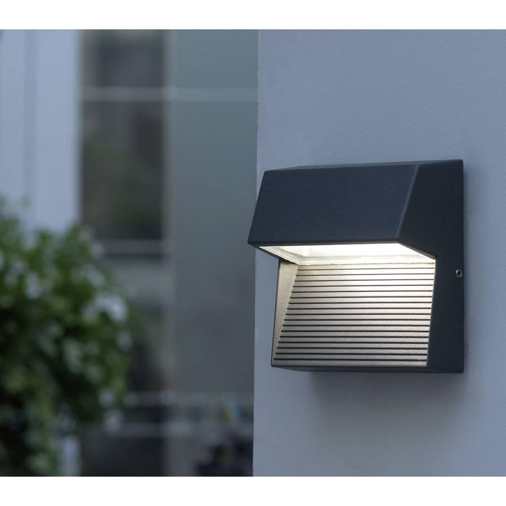 LED-Zunanja stenska svetilka 3 W nevtralno bela ECO-Light LED-Design svetilka Radius 1866 GR antracitna