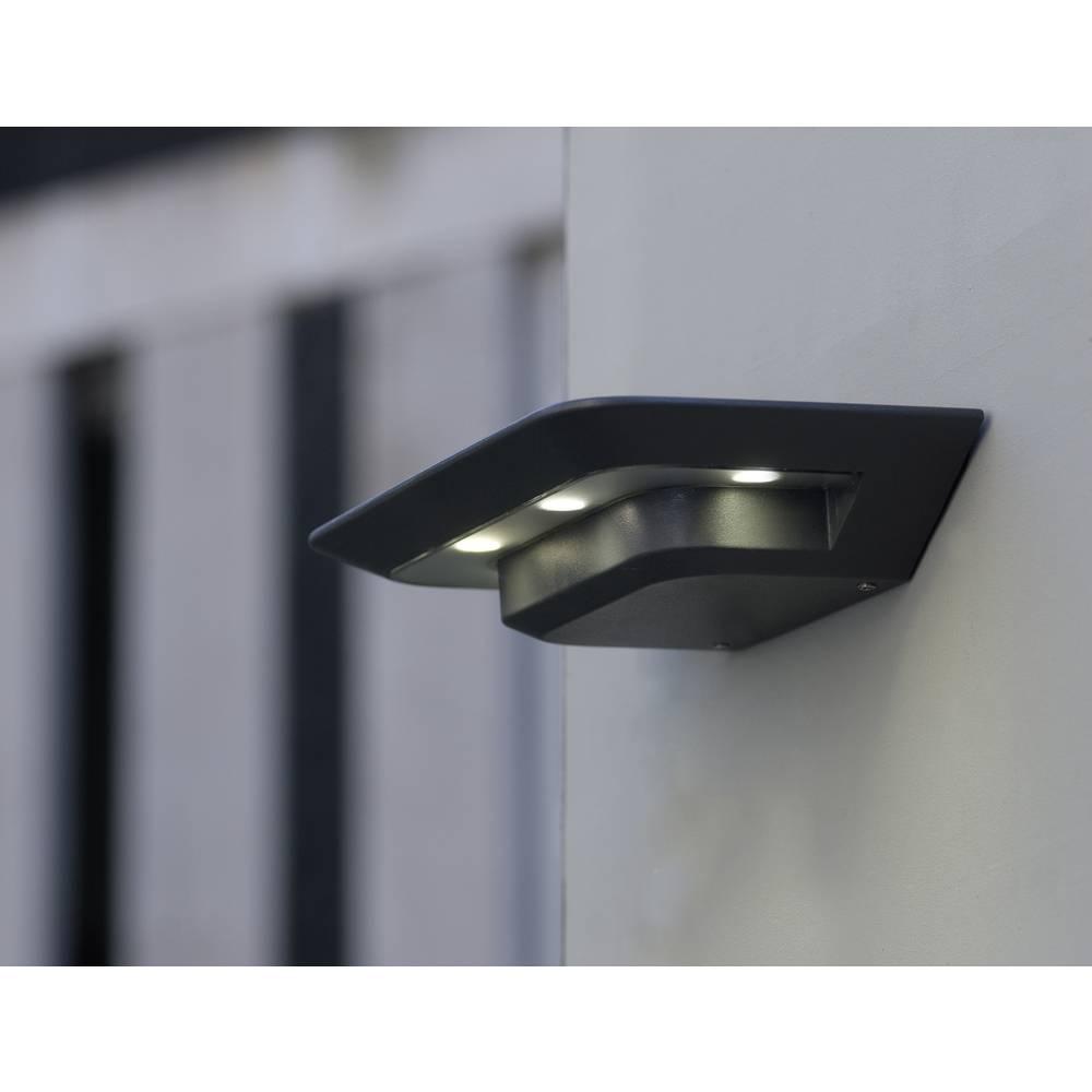 LED-Zunanja stenska svetilka 12 W nevtralno bela ECO-Light LED-Design svetilka GHOST 1881S GR antracitna