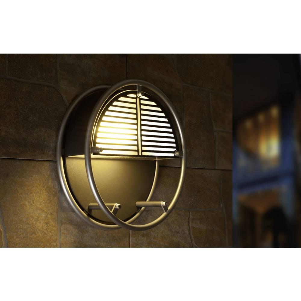 LED-Zunanja stenska svetilka 6 W nevtralno bela ECO-Light LED-Design svetilka WIRE 3441 SI LED srebrna