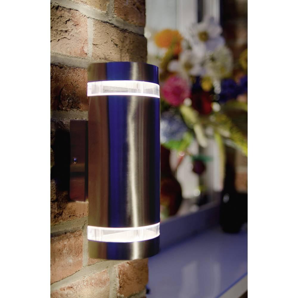 LED-Zunanja stenska svetilka 6 W nevtralno bela ECO-Light LED-Design svetilka FOCUS ST 6040 LED jeklo
