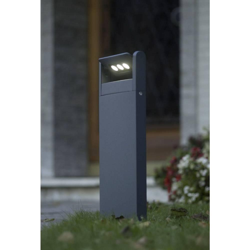 LED-Zunanja stoječa svetilka 3 W hladno-bela ECO-Light 6146 S-1-526 GR LEDSpot antracitna