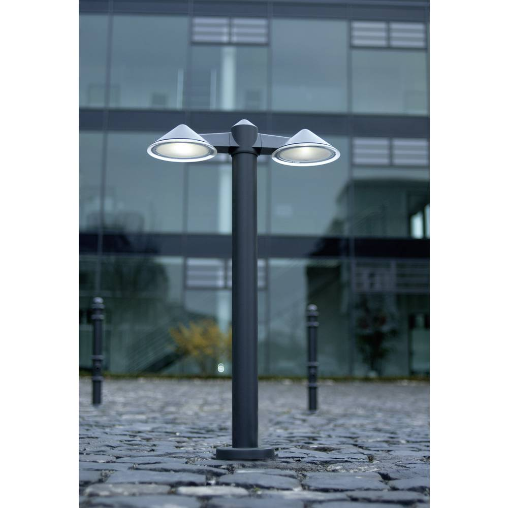 LED-Zunanja stoječa svetilka 3 W hladno-bela ECO-Light 21876 N3-800GR Cone antracitna