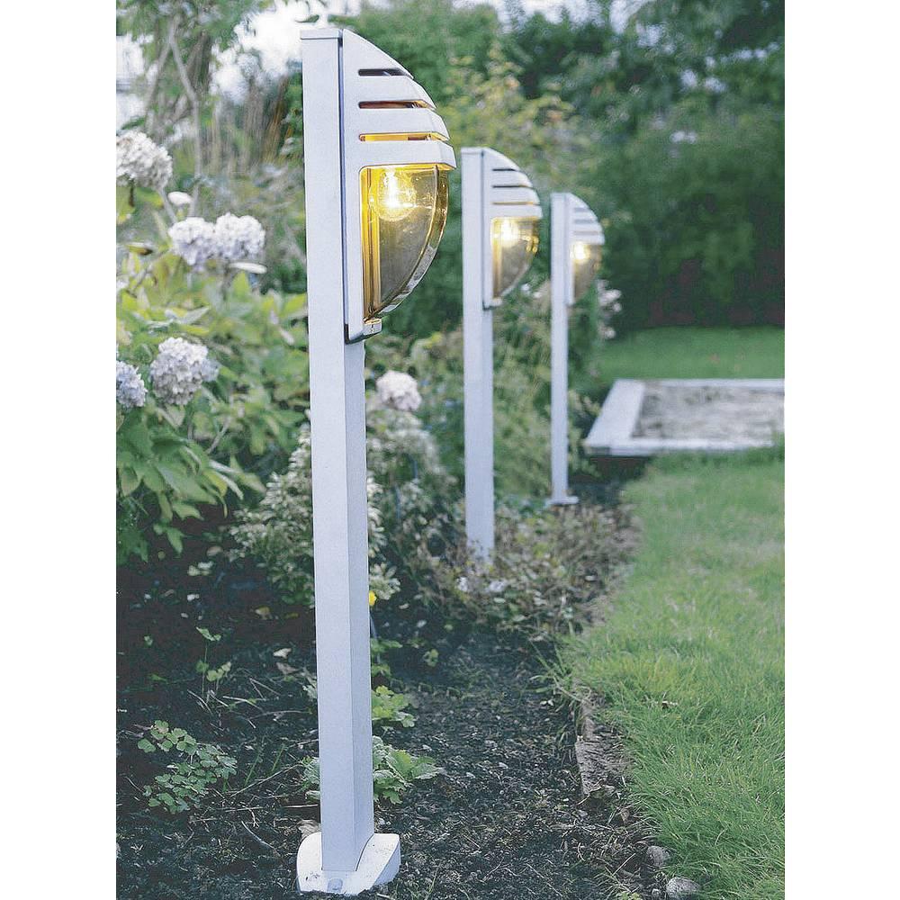 Zunanja stoječa svetilka 60 W Neutral-bela ECO-Light City srebrna 11836 R SI