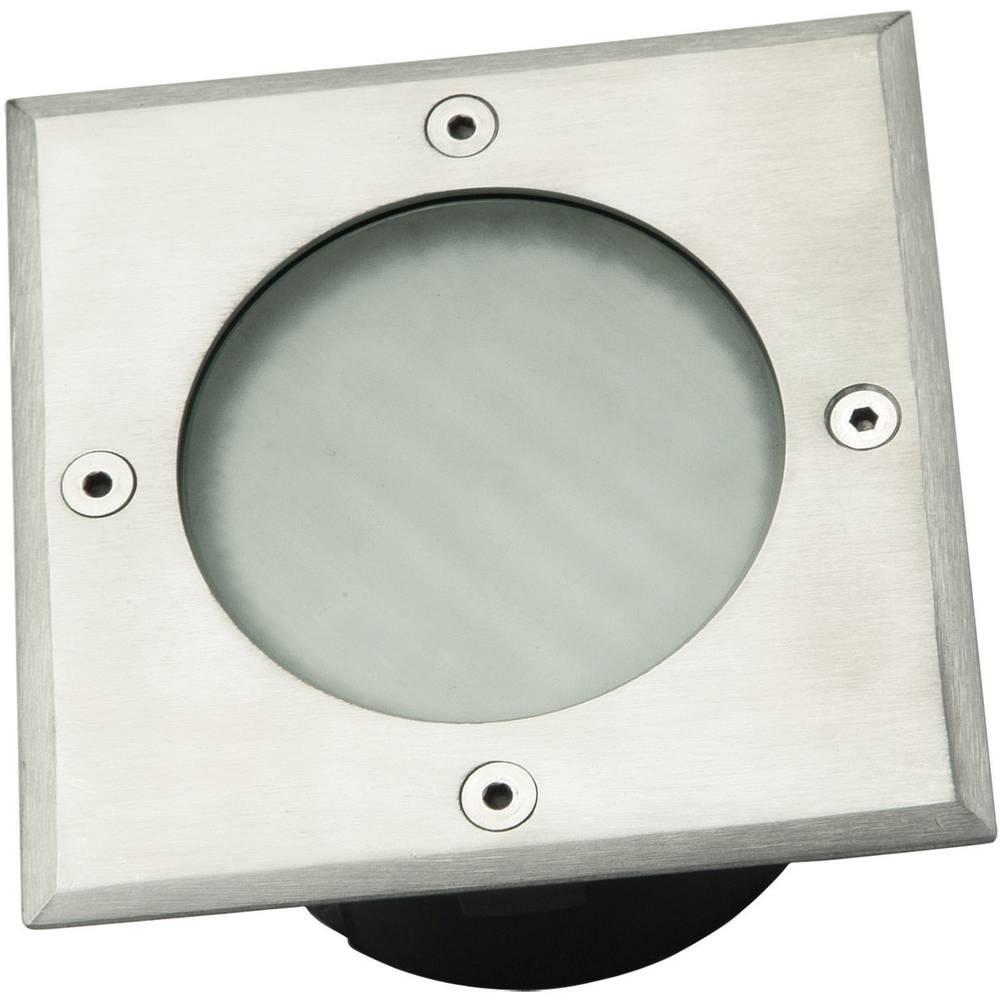 Zunanja vgradna svetilka GX53 halogenska 9 W ECO-Light 7010 B-GX53 W BULB nerjaveče jeklo