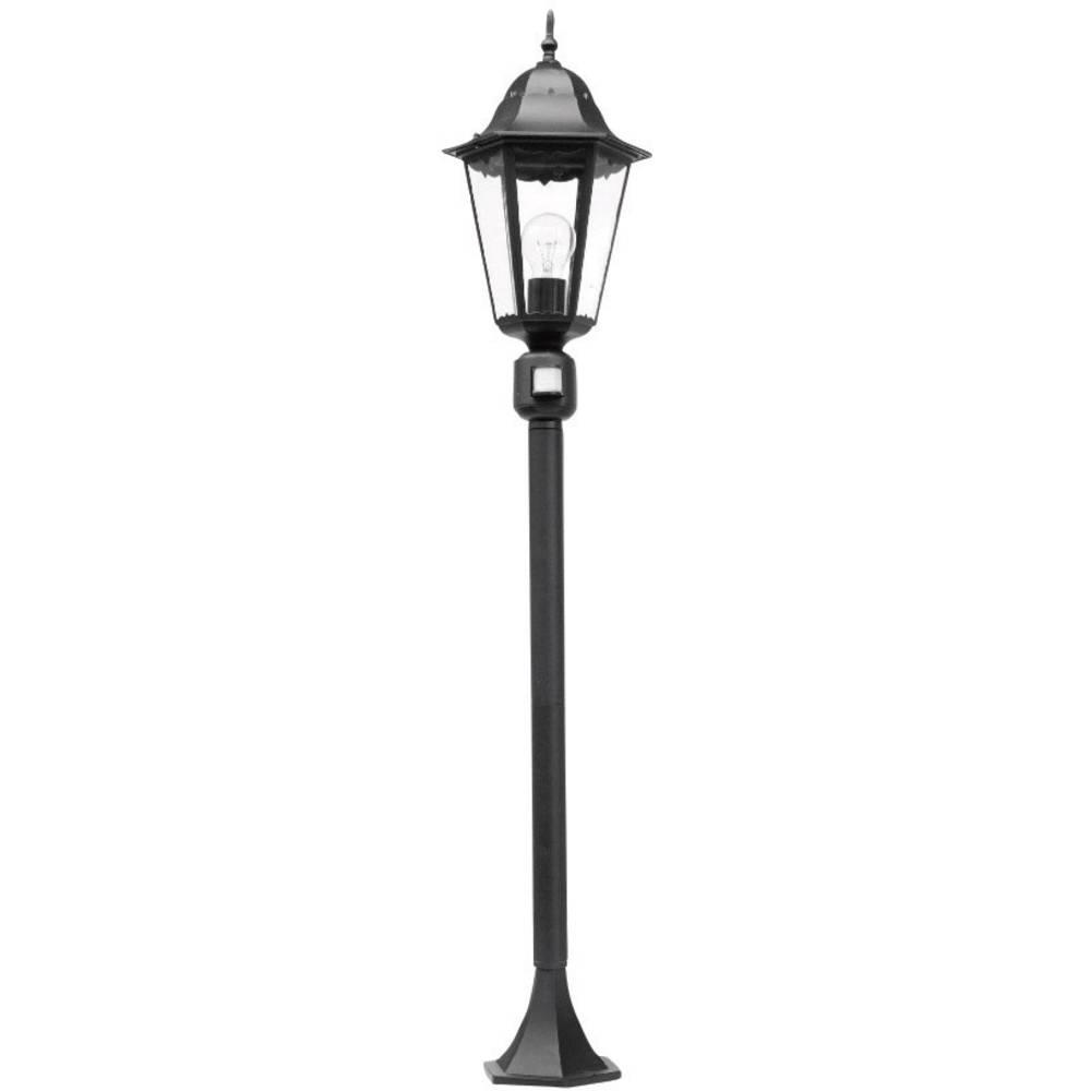 Zunanja stoječa svetilka s senzorjem gibanja energijsko varčna žarnica 100 W ECO-Light Bristol črna 11333 LJ-PIR SW