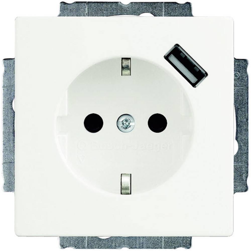 Busch-Jaeger vložek, varnostna vtičnica, USB vtičnica Solo, Future Linear, bele barve 20 EUCBUSB-84