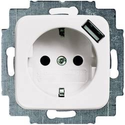 Busch-Jaeger varnostna vtičnica, USB vtičnica Duro 2000 SI, Duro 2000 SI Linear krem bele barve 20 EUCBUSB-212