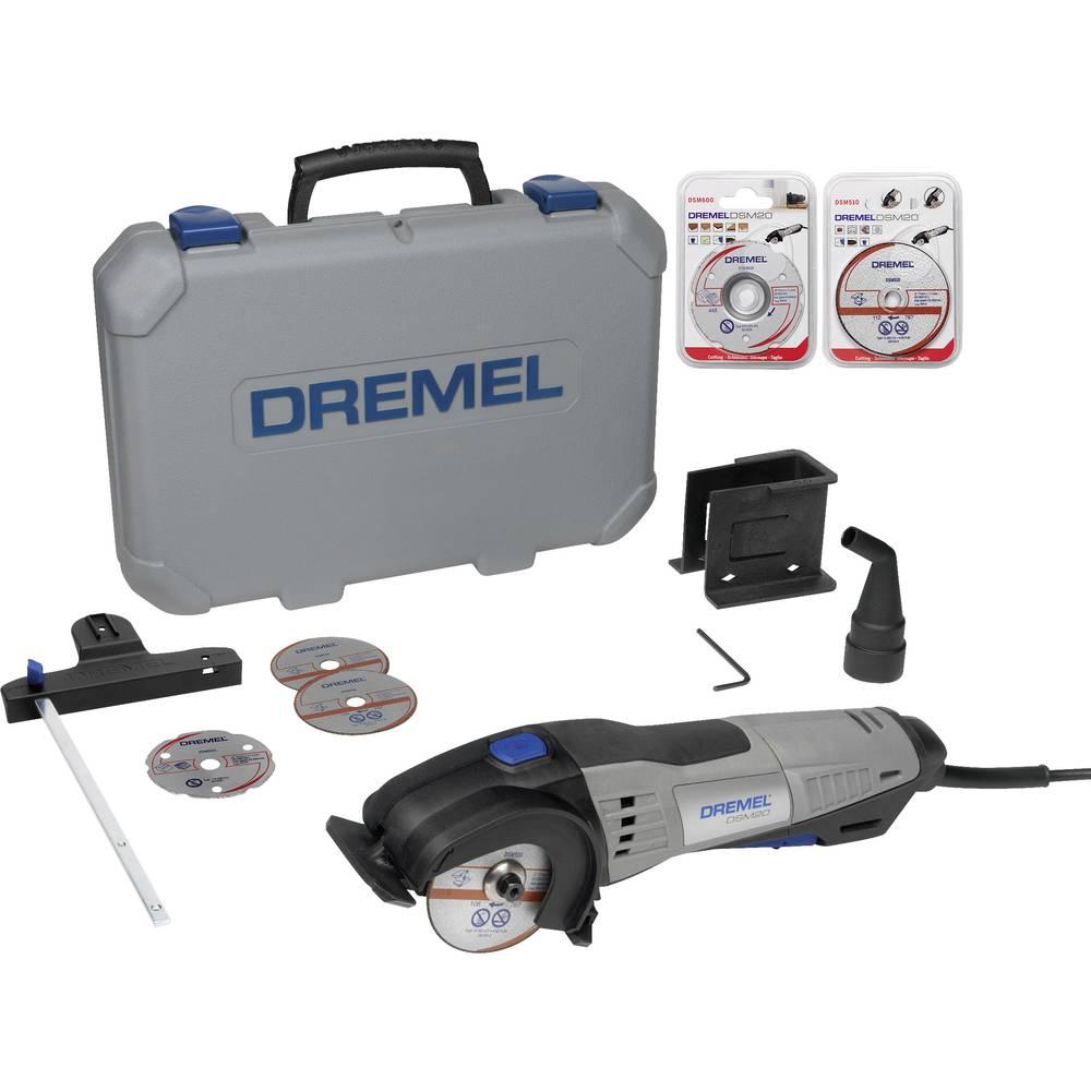 Mini krožna žaga, vklj. dodatna oprema, kovček 13-delni komplet 710 W Dremel DSM20/3-8