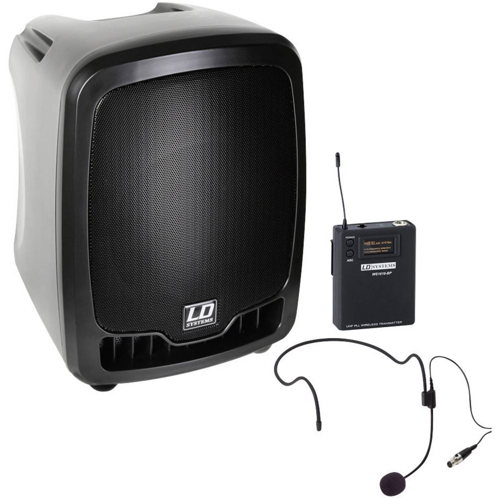 LD Systems Roadboy 6.5 z naglavnimi slušalkami PA zvočnik LDRB65HS