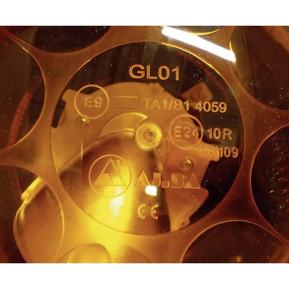 LED vrtljiva luč AJ.BA, 12/24V, oranžne barve, montaža z magnetom 920962