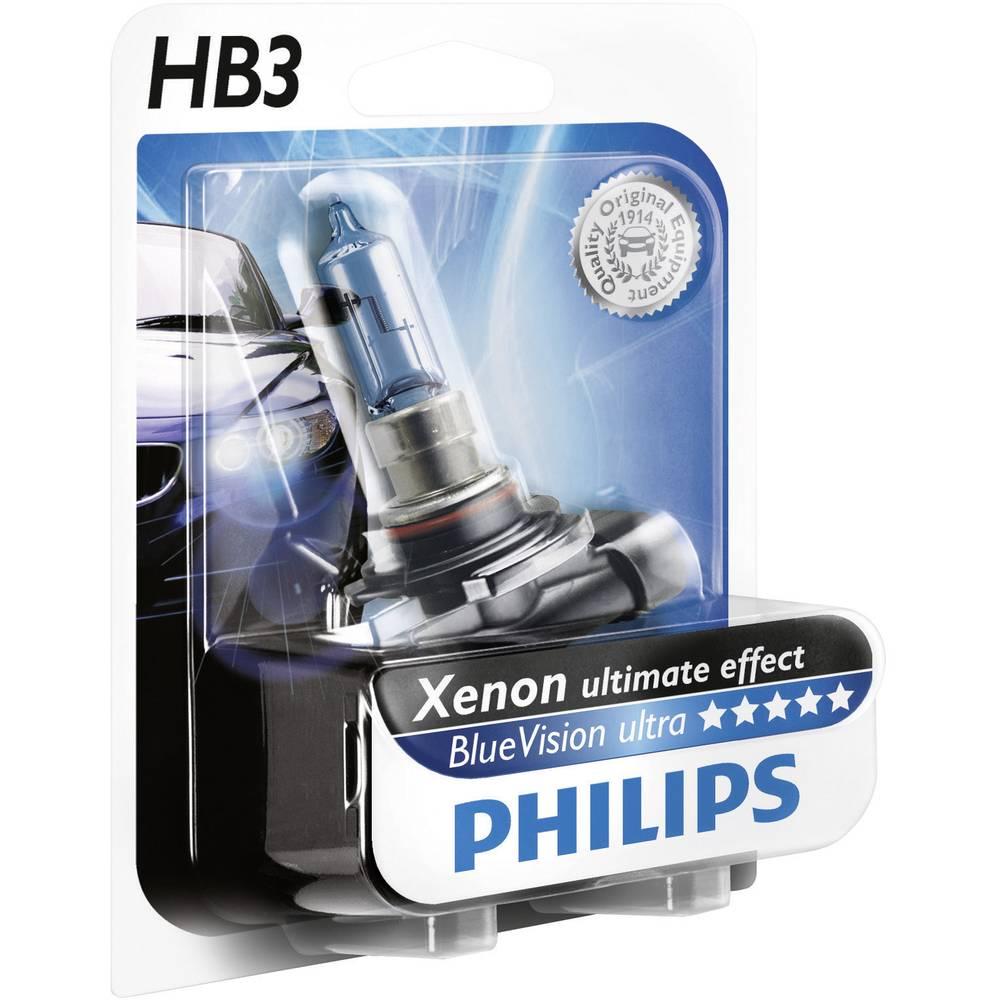 Avtomobilska žarnica Philips Vision, HB3 12 V 1 kos, P20d prozorna 24724730