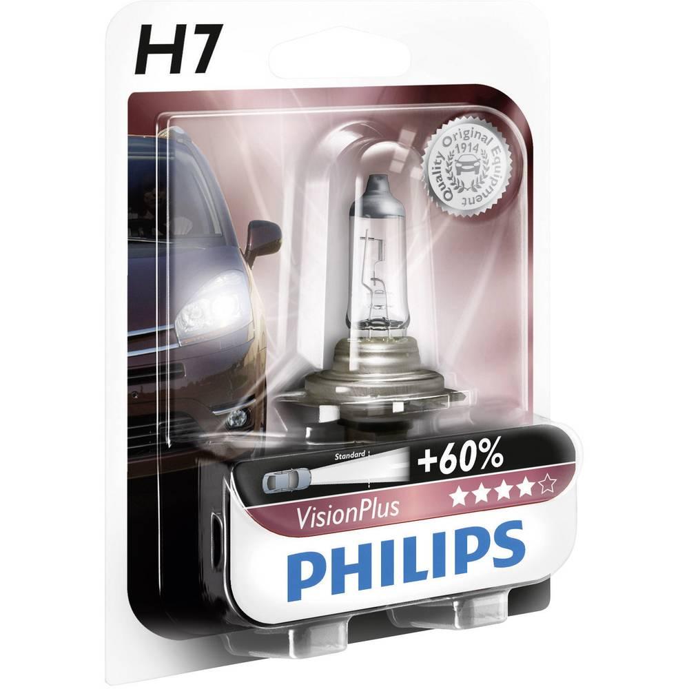 Avtomobilska žarnica Philips VisionPlus, H7 12 V 1 par, PX26d prozorna 39938728