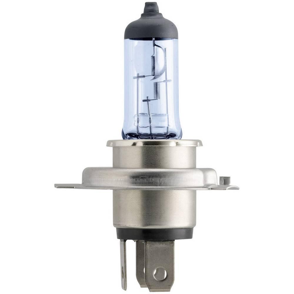 Avtomobilska žarnica Philips Bluevision Moto, H4, 12 V, 1 kos, P43t, modra (prozorna) 36231230