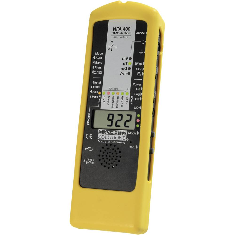 Analizator nizkih frekvenc, merilnik elektrosmoga GigahertzSolutions NFA400 350-010 Gigahertz Solutions