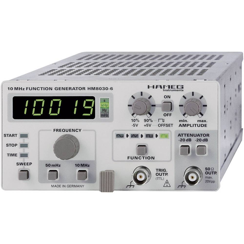 Generator funkcija Hameg HM8030-6, 0,05 Hz - 5 MHz, sinusni, trokutni, pravokutni signal 24-8030-0601