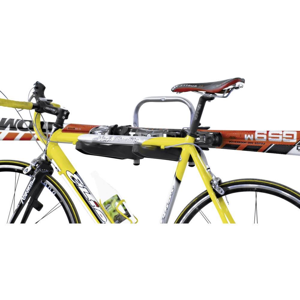 Zidni držač za bicikl Broj parkirnih mjesta=3 000371 Aluminijum, Plastika Srebrno-crna