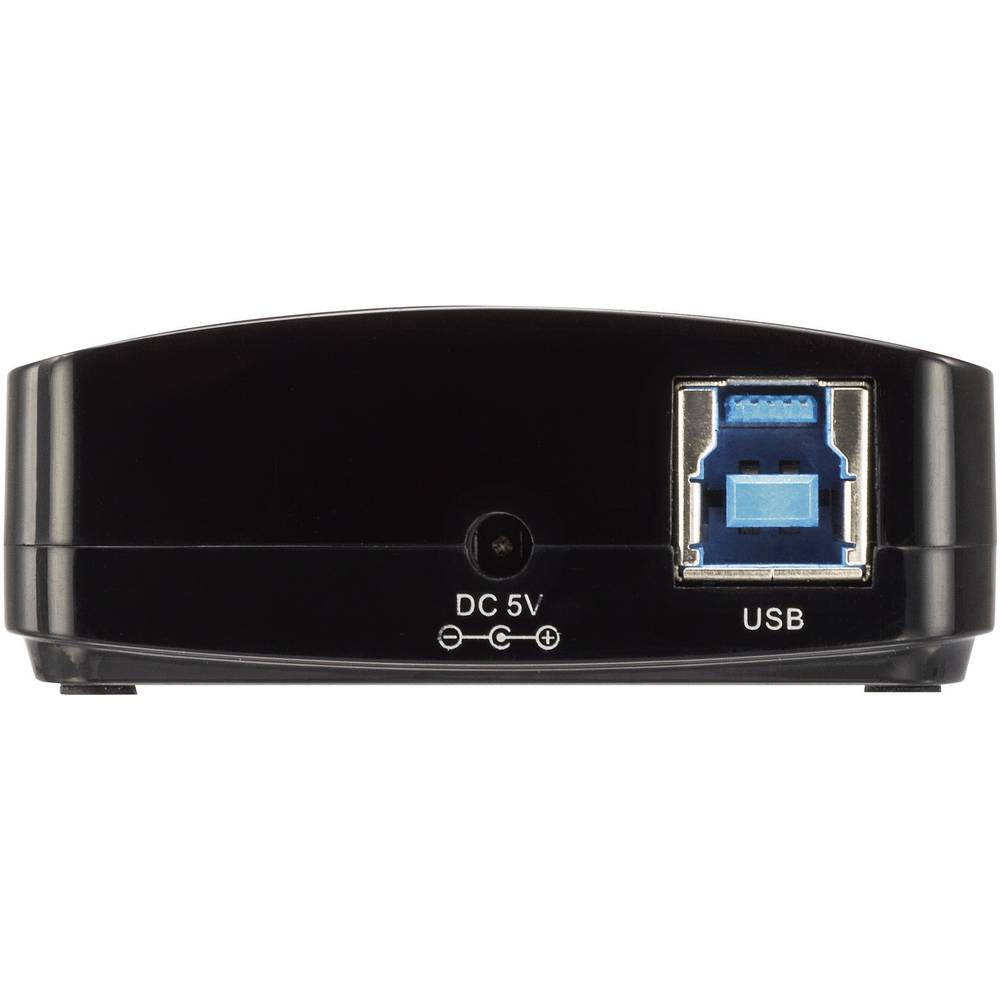 4 vhodni USB 3.0 razdelilnik črn Renkforce