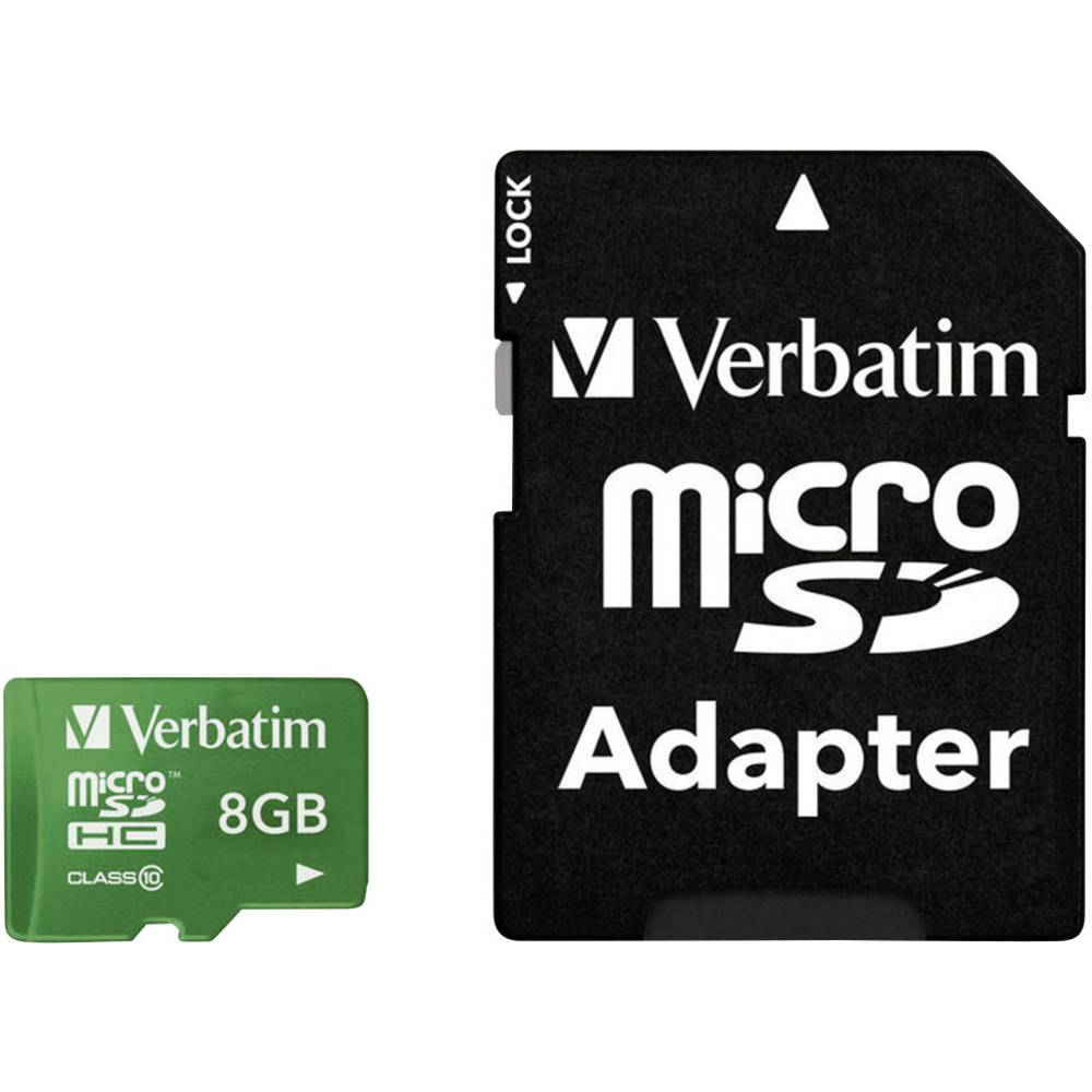 microSDHC kartica Verbatim Tablet Class 10 UHS-I uklj. SD-adapter 8 GB