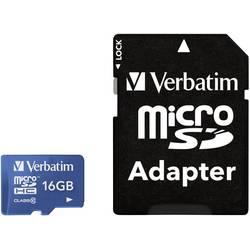 MicroSDHC kartica 16 GB Verbatim Tablet Class 10 UHS-I, SD adapter vključen 44043
