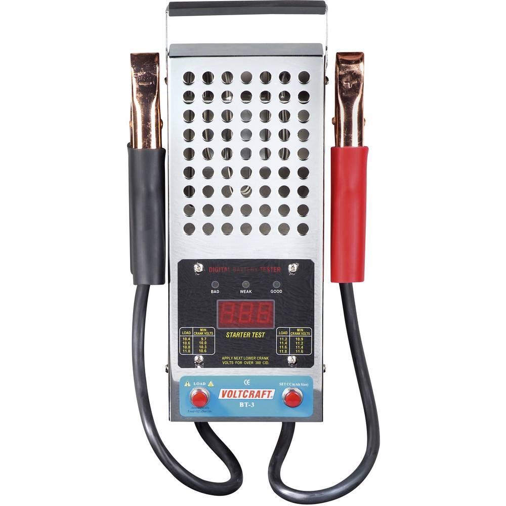 VOLTCRAFT® BT-3 digitalni ispitivač olovnih akumulatora za akumulatore od 12 V od 30Ah