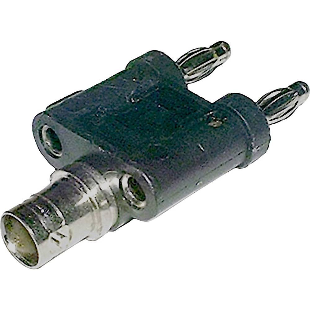 Mjerni adapter BNC-utičnica - lamelni utikač, 4 mm BKL Electronic crne boje