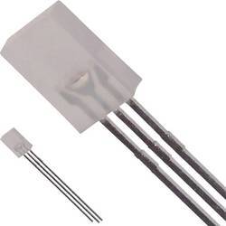 Ožičena LED dioda, rdeča, zelena, pravokotna 8 x 5.18 mm 2.1 mcd, 2.6 mcd 100 ° 30 mA 1.9 V, 2.2 V Broadcom HLMP-0800