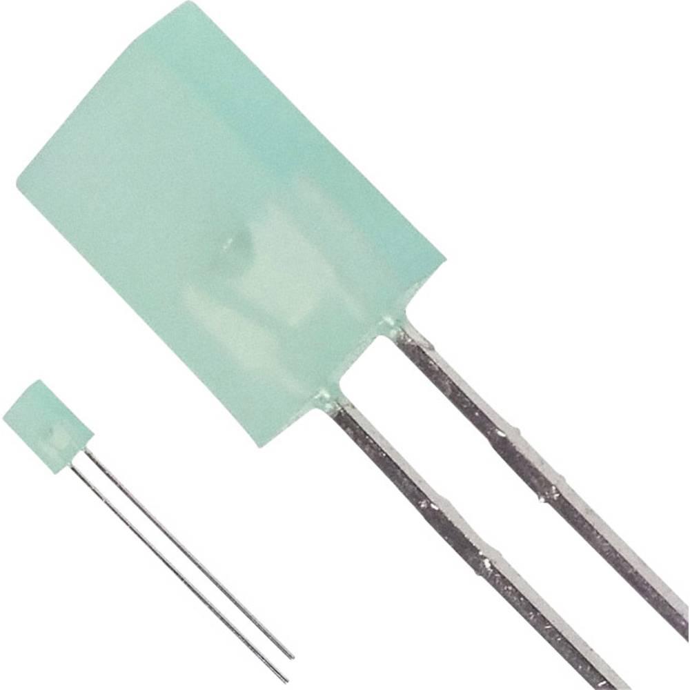 Ožičena LED dioda, zelena, pravokotna 5.06 x 2.11 mm 4 mcd 110 ° 20 mA 2.2 V Broadcom HLMP-S501-C0000