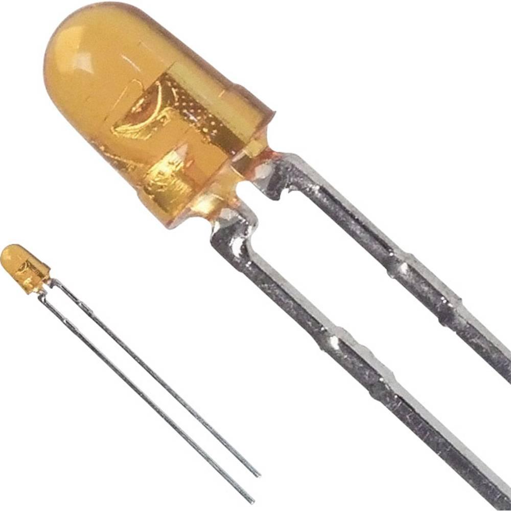 Ožičena LED dioda, rumena, okrogla 3 mm 15 mcd 45 ° 20 mA 2 V Broadcom HLMP-1421