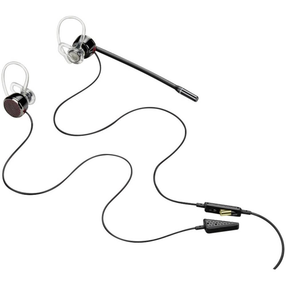 Telefonske slušalke USB žične, mono,, Stereo Plantronics Blackwire C435-M v-ušesne črne barve, srebrne barve