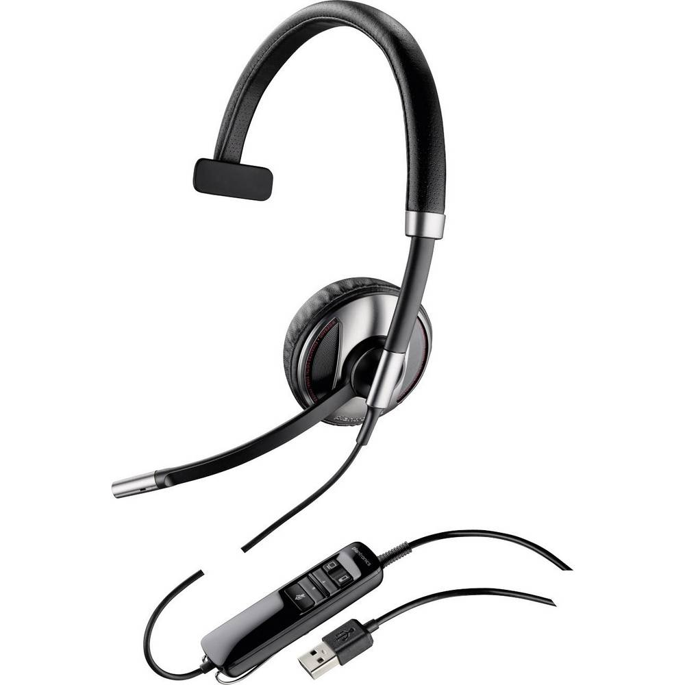 Plantronics Blackwire C710-M Telefonski naglavni komplet USB Vrvične, Mono On Ear Črna, Srebrna