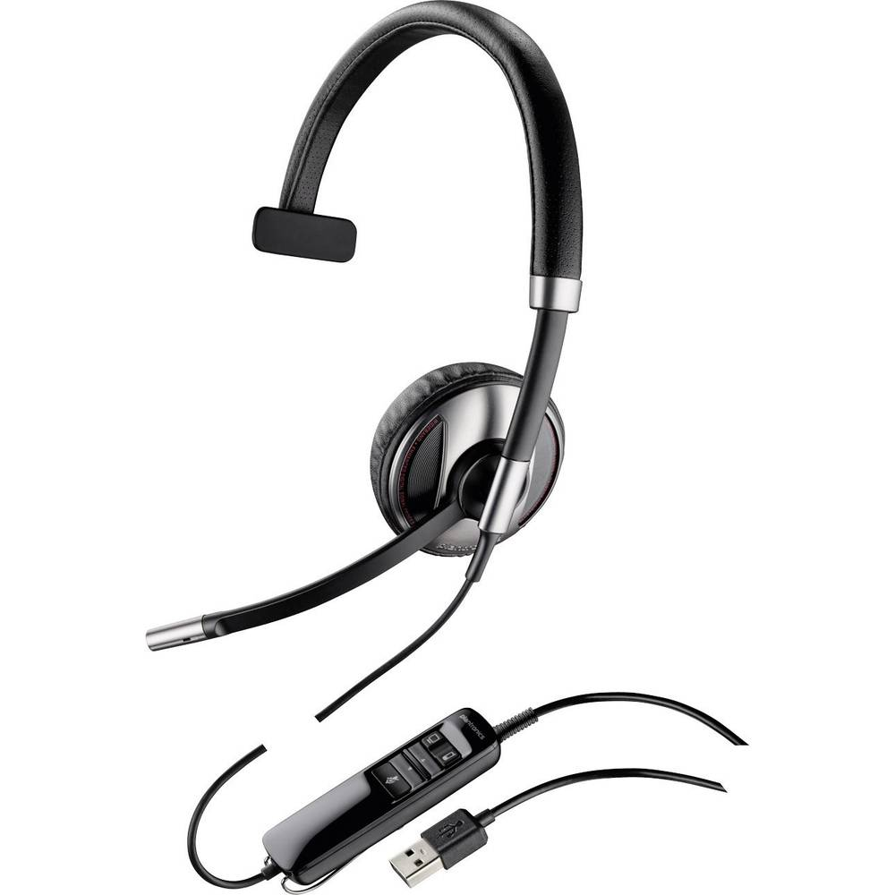 Plantronics Blackwire C710 Telefonski naglavni komplet USB Vrvične, Mono On Ear Črna, Srebrna