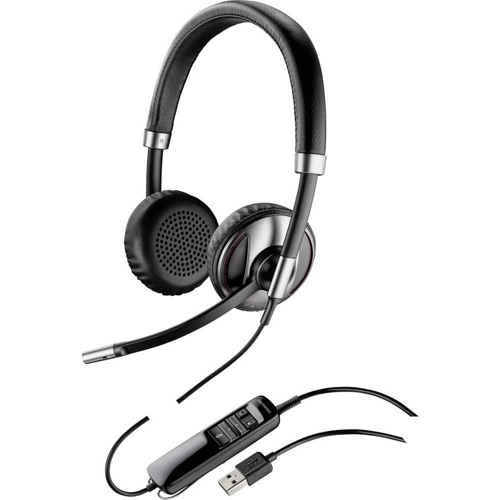 Plantronics Blackwire C720 Telefonski naglavni komplet USB Vrvične, Stereo On Ear Črna, Srebrna